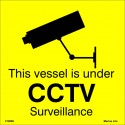 VESSEL UNDER CCTV SURVEILLANCE  (20x20cm) White Vin. IMO symbol 212896YV