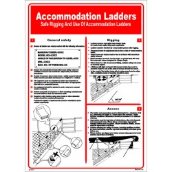 Póster ACCOMMODATION LADDERS Póster  (45x32cm) White Vin. IMO symbol 221513WV