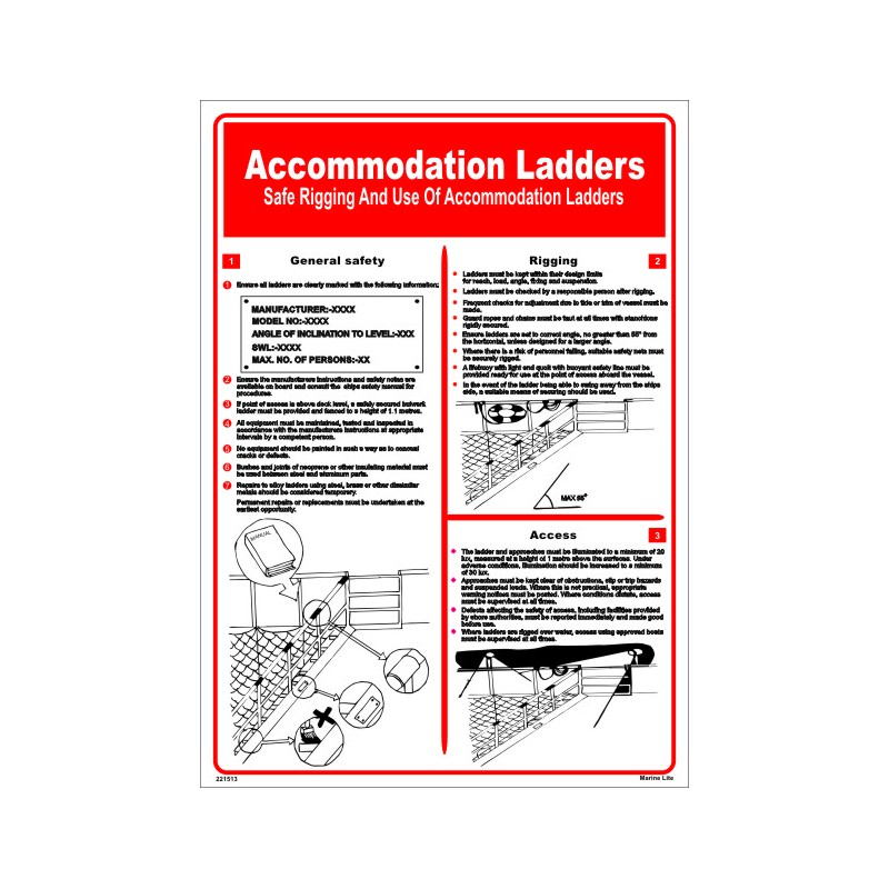 P 243 Ster Accommodation Ladders P 243 Ster 45x32cm White Vin