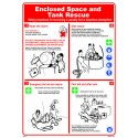 Póster ENCLOSED SPACE & TANK RESCUE  (45x32cm) White Vin. IMO symbol 221517WV