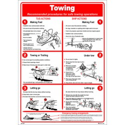 Póster TOWING Póster  (45x32cm) White Vin. IMO symbol 221521WV