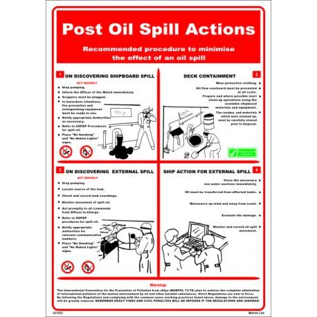 Póster POST OIL SPILLS ACTION Póster  (45x32cm) White Vin. IMO symbol 221523WV