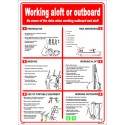 Póster WORKING ALOFT OR OUTBOARD Póster (45x32cm) White Vin. IMO symbol 221525WV