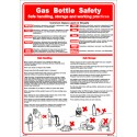 Póster GAS BOTTLE SAFETY Póster (45x32cm) White Vin. IMO symbol 221532WV