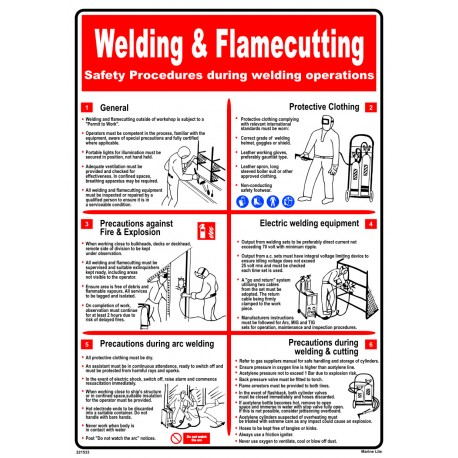 Póster WELDING & FLAME CUTTING Póster  (45x32cm) White Vin. IMO symbol 221533WV