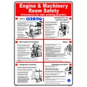 Póster ENGINE & MACHINE ROOM SAFETY  (45x32cm) White Vin. IMO symbol 221535WV