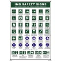 Póster IMO SAFETY SIGNS  (45x32cm) White Vin. IMO symbol 221536WV