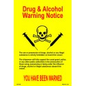Póster DRUGS & ALCOHOL WARNING Póster  (30x20cm) Yellow Vin. IMO symbol 221539YV