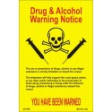 Póster DRUGS & ALCOHOL WARNING Póster  (15x10,5cm) Yellow Vin. IMO symbol 221540YV