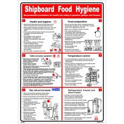 Póster SHIPBOARD FOOD HYGIENE Póster  (45x32cm) White Vin. IMO symbol 221544WV