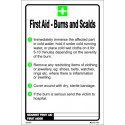 Póster FIRST AID-BURNS AND SCALDS  (30x20cm) White Vin. IMO symbol 221551WV