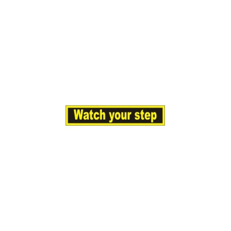 WATCH YOUR STEP  (4x20cm) Yellow Vin. IMO symbol 230002YV