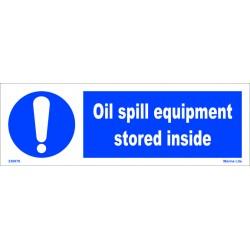 OIL SPILL EQUIPMENT STORED INSIDE  (10x30cm) White Vin. IMO symbol 230076WV