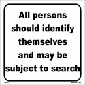 ALL PERSONS SHOULD IDENTIFY   (15x40cm) White Vin. IMO symbol 230175WV