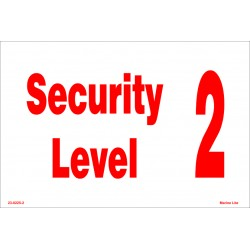 SECURITY LEVEL  (20x30cm) White Vin. IMO symbol 230225(2)WV