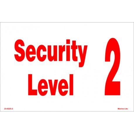 SECURITY LEVEL  (20x30cm) White Vin. IMO symbol 230225(2)WV
