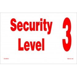 SECURITY LEVEL  (20x30cm) White Vin. IMO symbol 230225(3)WV