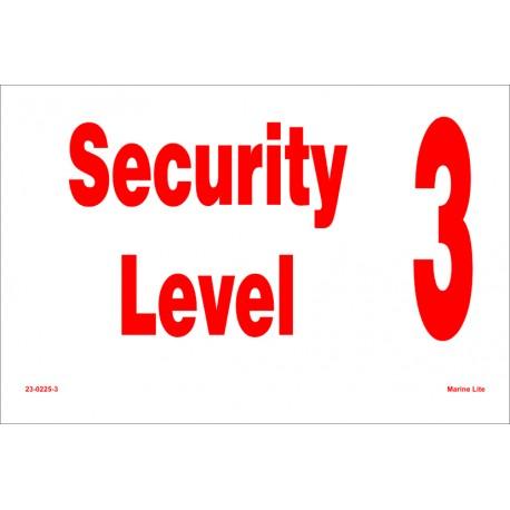 SECURITY LEVEL  (20x30cm) White Vin. IMO symbol 230225(3)WV