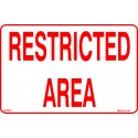 RESTRICTED AREA  (20x25cm) White Vin. IMO symbol 230236WV