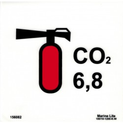 CO2 EXTINGUISHER 6,8 KG  (15x15cm) Phot.Vin. IMO sign 156082(6,8)