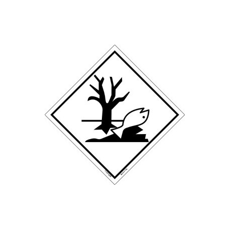 MARINE POLLUTANT  (25x25cm) White Vin. IMO sign 17-0110(40)MAC WV