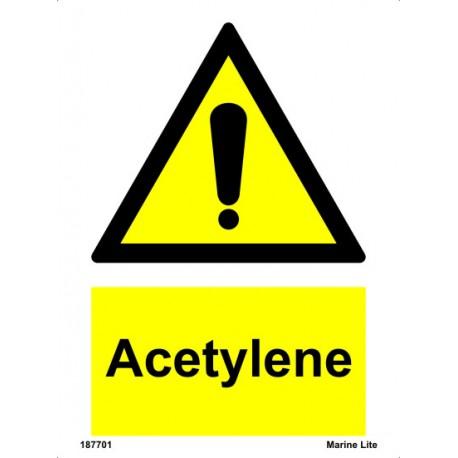 ACETYLENE  (20x15cm) White Vin. IMO sign 18770116WV