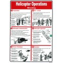 Póster HELICOPTER OPERATIONS WINCHING Póster  (45x32cm) White Vin. IMO symbol 221577WV