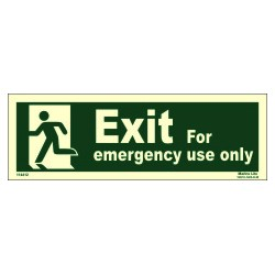 EMERGENCY EXIT/EXIT MAN LEFT (15x40cm) Phot.Vin. IMO sign 114412 (13)
