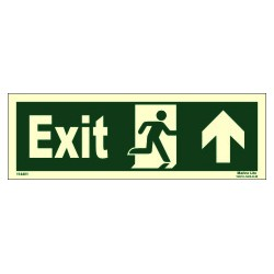 EXIT MAN RUN RIGHT ARROW UP RIGHT  (10x30cm) Phot.Vin. IMO sign 114401