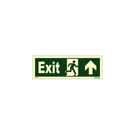 EXIT MAN RUN RIGHT ARROW UP RIGHT  (15x40cm) Phot.Vin. IMO sign 114401(13)
