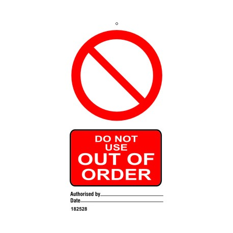 OUT OF ORDER (7,5X15) SET 10, IMO sign 182528-SET