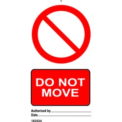 DO NOT MOVE (7,5X15) SET 10, IMO sign 182524-SET