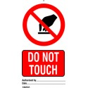 DO NOT TOUCH (7,5X15) SET 10, IMO sign 182531-SET
