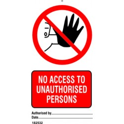 NO ACCESS TO UNAUTHORISED PERSONS (7,5X15) SET 10, IMO sign 182532-SET