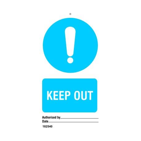 KEEP OUT (7,5X15) SET 10, IMO sign 182540-SET