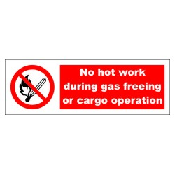 NO HOT WORK  (10x30cm) White Vin. IMO symbol 208539WV