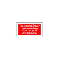 WARNING - TEST WATER TEMPERATURE BEFORE USE  (7,5x14cm) White Vin. IMO sign 178000WV