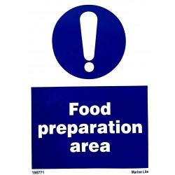 FOOD PREPARATION AREA  (20x15cm) White Vin. IMO sign 195771WV
