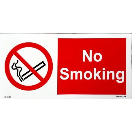 NO SMOKING  (10x30cm) White Vin. IMO symbol 208530WV