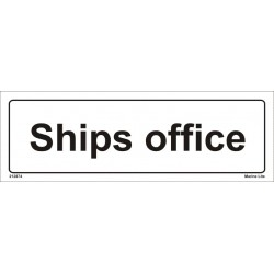SHIPS OFFICE  (10x30cm) White Vin. IMO sign 212874WV