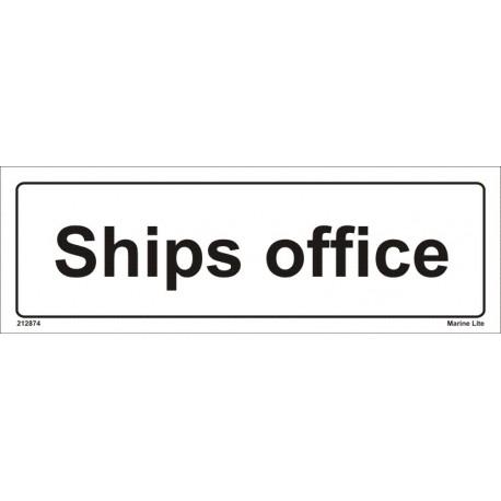 SHIPS OFFICE  (10x30cm) White Vin. IMO sign 212874WV