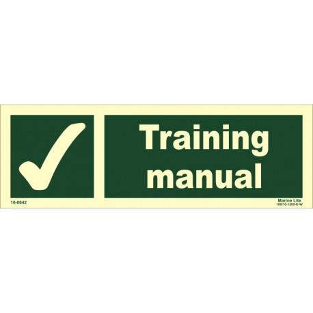 TRAINING MANUAL (10x30cm) Phot.Vin. IMO sign 10-0642