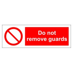 DO NOT REMOVE GUARDS (10x30cm) White Vin. IMO symbol 208568WV