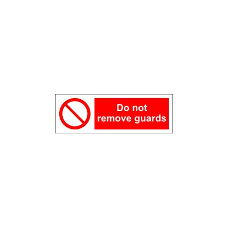 DO NOT REMOVE GUARDS (10x30cm) White Vin. IMO symbol 208568WV