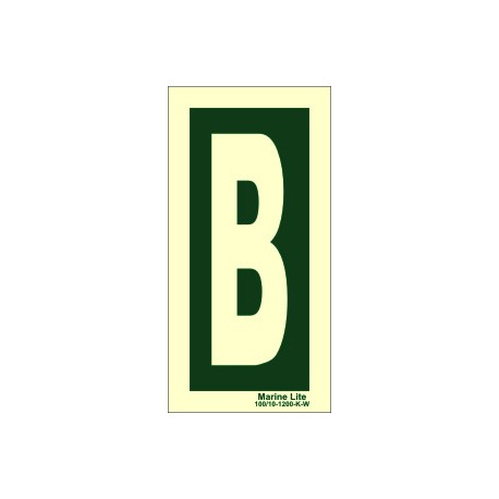 LETTER B  (30x15cm) Phot.Vin. IMO sign 104251