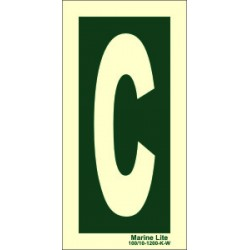 LETTER C  (30x15cm) Phot.Vin. IMO sign 104252
