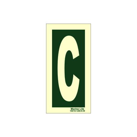 LETTER C  (30x15cm) Phot.Vin. IMO sign 104252