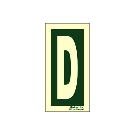 LETTER D  (30x15cm) Phot.Vin. IMO sign 104253