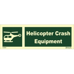 HELICOPTER CRASH EQUIPMENT (10X30) Photol Vin IMO sign 10-0507