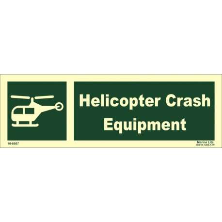 HELICOPTER CRASH EQUIPMENT (10X30) Photol Vin IMO sign 10-0647